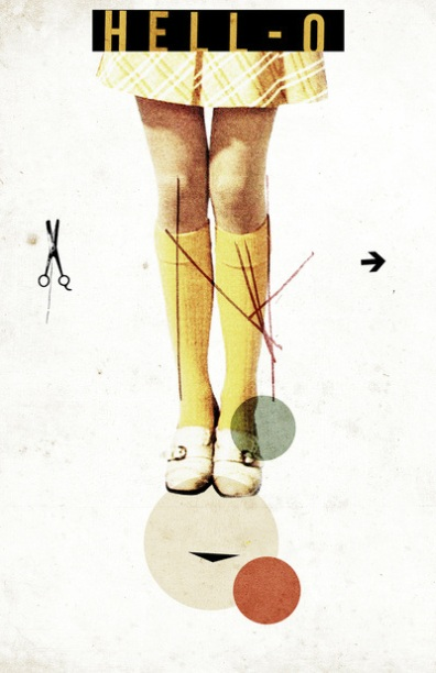 Female legs with long yellow socks.