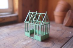Still life of a miniature conservatory structure
