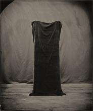 Still life of a black cloth.