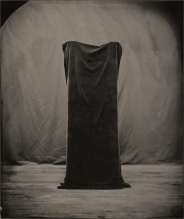 Still life of a black cloth.
