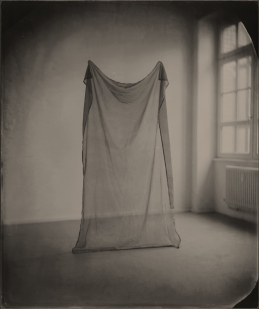 Still life of a cloth into a room.