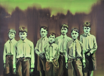 Painting of a group of children.
