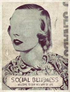 Vintage defaced woman portrait.