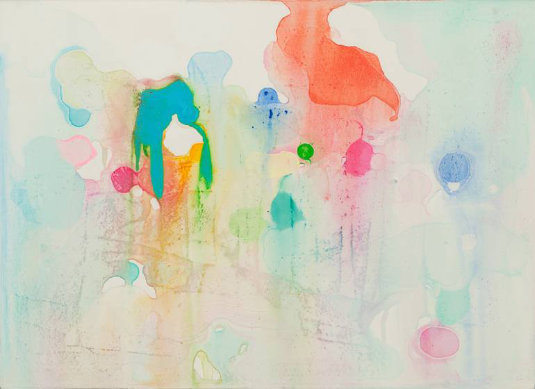 Abstract composition of organic form and bright colours.