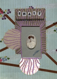 Mixed media collage created with a vintage woman photo.