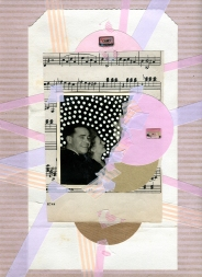 Mixed media collage created with a ruined vintage couple photo.
