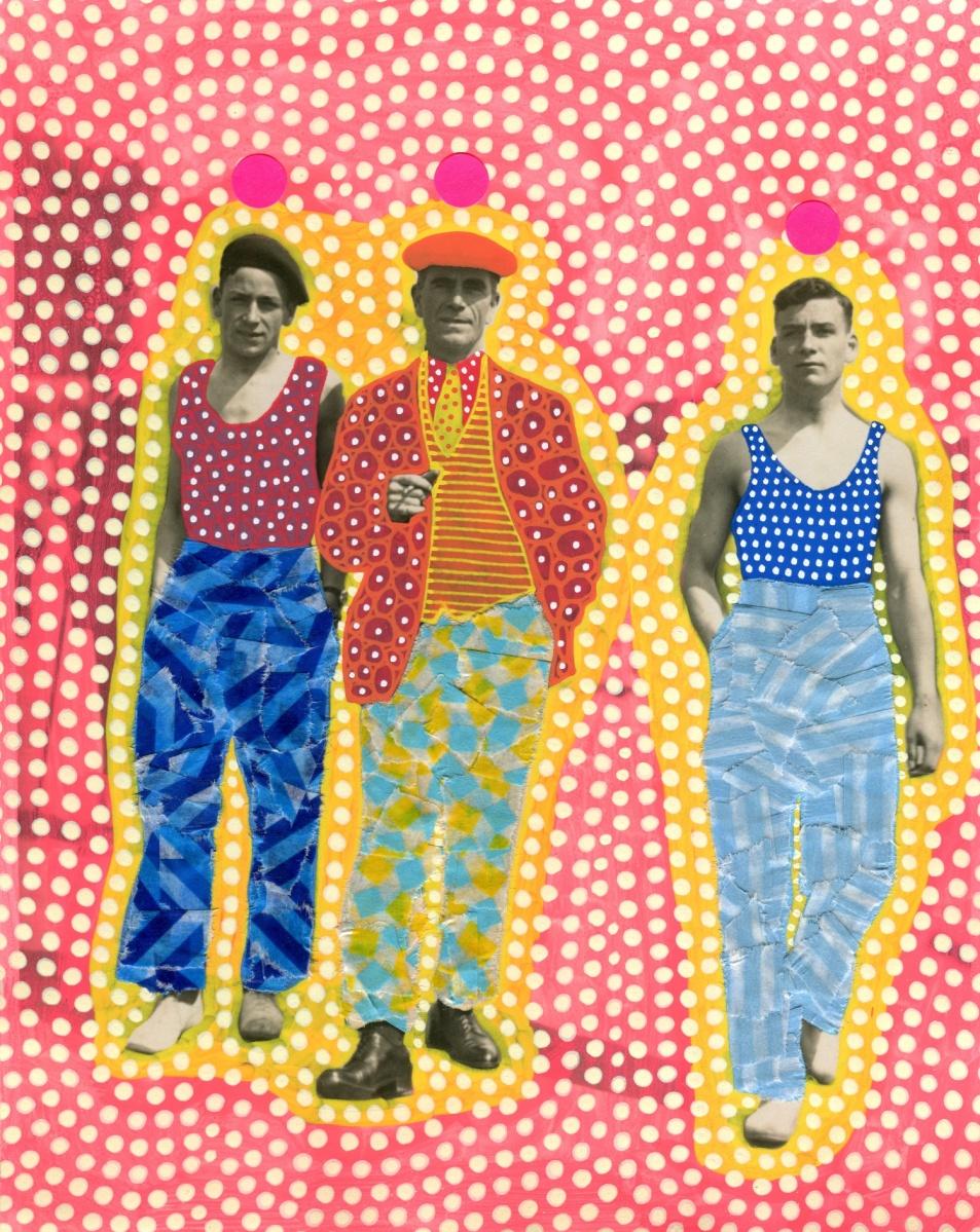 Altered man trio portrait.