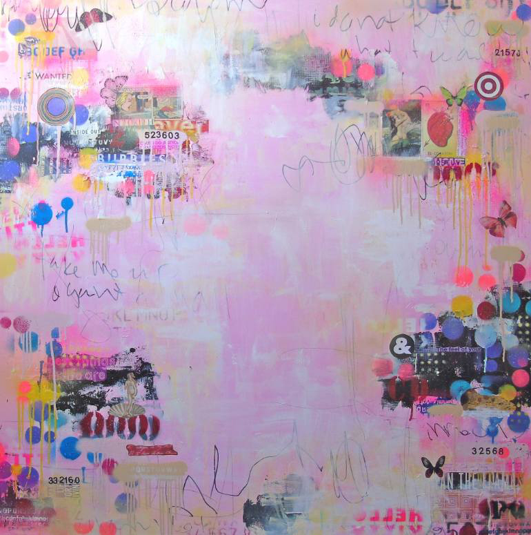 Pastel pink abstract composition.