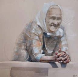 Old woman portrait.
