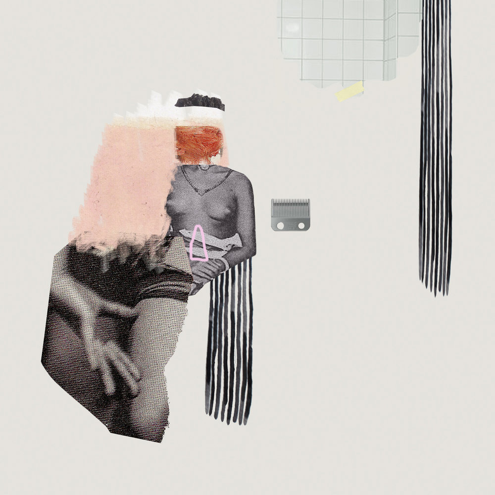 Female body parts collage.