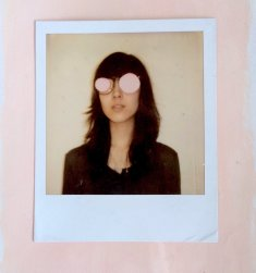 Altered polaroid portrait.