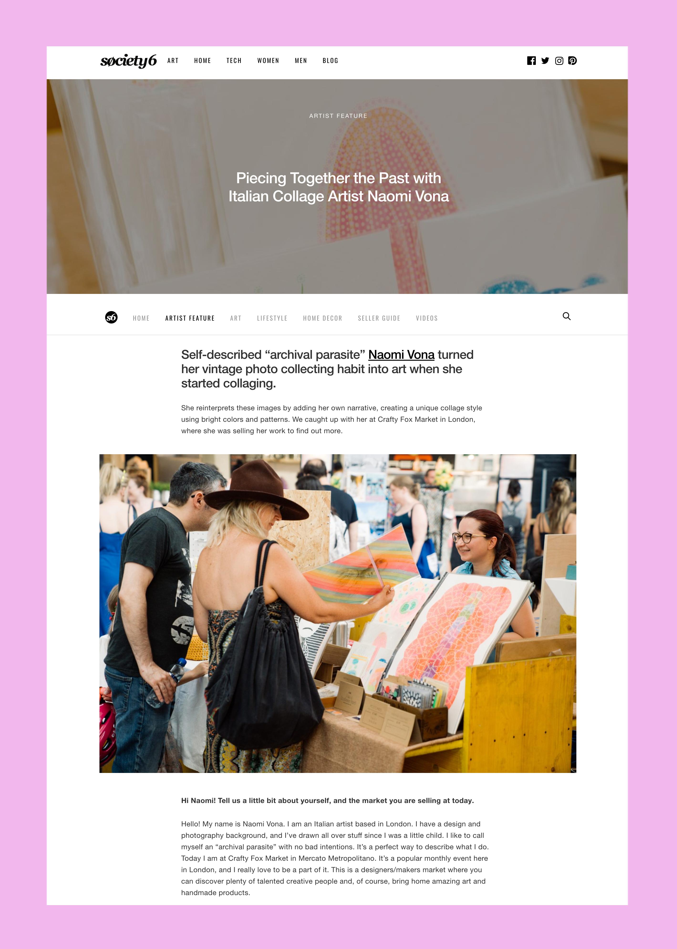 Screenshot of blog post.
