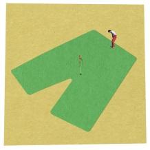Man playing golf.